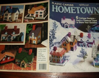Cottage Plastic Canvas Patterns Hometown Needlecraft Shop 89PH5 Pattern Leaflet Gina Woods
