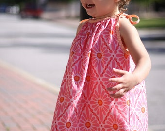 Stella Tie Top Pattern Tutorial Instructions - Sizes 1, 2, 3, 4, 5, and 6