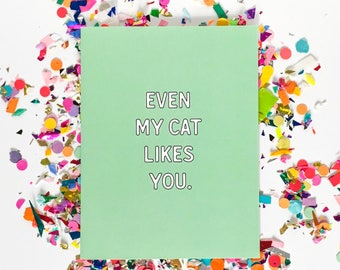 Cat Compliment Card