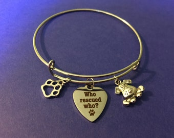 Who rescued who dog bracelet