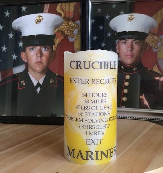 Crucible Candle United States Marine Corps Usmc Printed