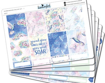 Hummingbird Deluxe Kit | DK01 | Planner Stickers for Erin Condren Vertical Planners - Physical Item | The Hummingbird Planner
