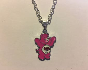 Pink Care Bear Necklace  AK62