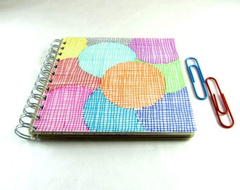 Square notebook, upcycled paper, to do list notepad, spiral notebook, journal, recycled writing pad, sketchpad, eco-friendly, sketch book