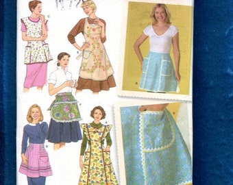 Simplicity 4282 Classic 1950's Style Aprons & Smocks Size S..M..L