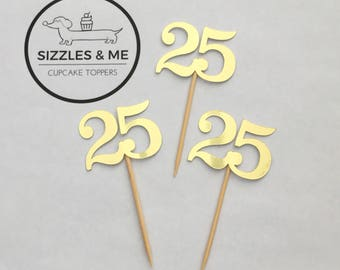 Double digit cupcake topper