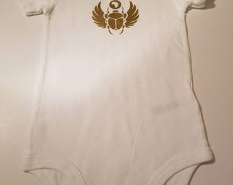 Cultural cotton Baby Bling Bodysuits,The scarab bug symbolized the restoration of life.