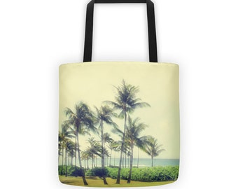 Tropical Palm Tree Tote for Eco Shopping and School and Sundry - 3 options available