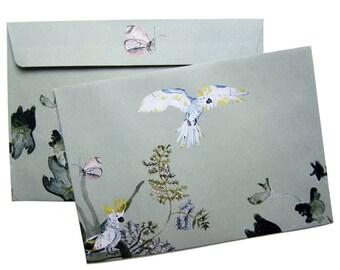 Aquarellblumen Briefumschläge