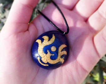 Castle in the Sky 天空の城ラピュタ Levitation Stone Polymer Clay Necklace Charm