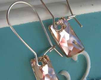 Vintage Rose Swarovski Crystal Earrings