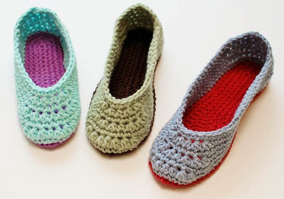 Crochet Pattern Ladies Crochet Slippers Pattern