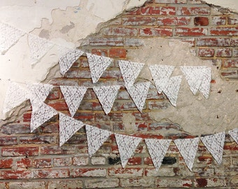 Handmade Lace Pennant Garland- 10 Feet
