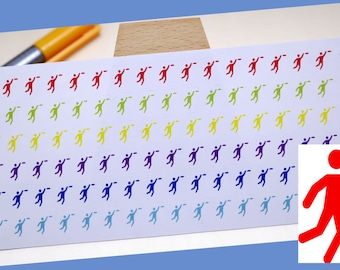 planner stickers || frisbee player || sport || small rainbow colored stickers || for your planner or bullet journal