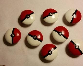 Pokémon wooden dresser drawer knobs