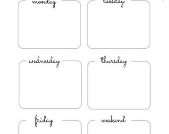 A5 Weekly Planner printable
