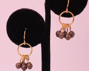 The Bibury Earrings in Pyrite