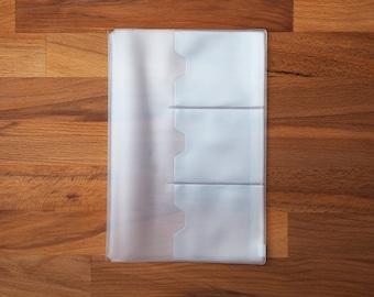 Plastic Card Holder / Zipper Case for Traveler's Notebook [A5 Size]