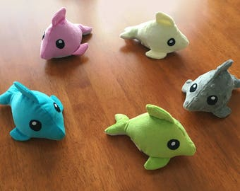 Dolphin Plush Toy - Baby and children's toy - crinkles, jingles and squeaks for extra fun