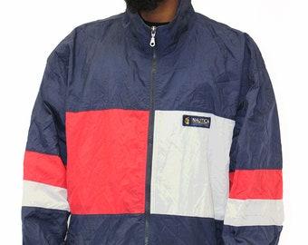 Vintage Nautica Competition Windbreaker Jacket Size XXL