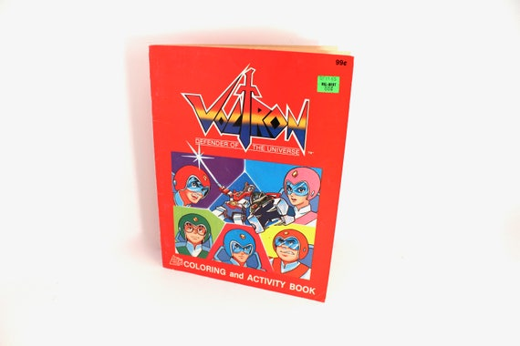 Vintage 1985 Voltron coloring book Defender of the Universe