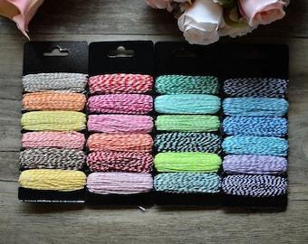 6 7.5 m sprockets of baker's twine cotton thread