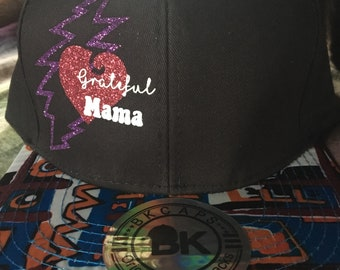Grateful Mama Snapback Flatbrim Hat Grateful Dead