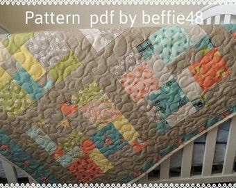 Blue Bird Park Quilt Pattern Tutorial, Use A Charm Pack