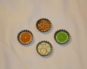 Citrus Fruit Decorative Magnet Set