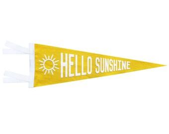Felt Pennant - Hello Sunshine