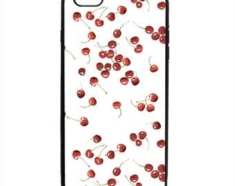 Cherry Fruit Print Pattern Phone Case Samsung Galaxy S5 S6 S7 S8 S9 Note Edge iPhone 4 4S 5 5S 5C 6 6S 7 7S 8 8S X SE Plus