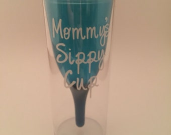 mommys sippy cup for wine blue floating wine glass in plastic tumbler - Floating Wine Glass