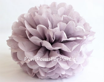 1 High Quality ASH LILAC Tissue Pom Pom - Choose any of 50 colours - Hanging  Paper flower - Tissue paper balls - Tissue paper pom poms
