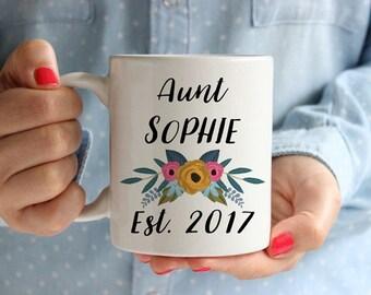 Personalized Aunt Gifts, Aunt Mug, Auntie Mug, Aunt Announcement, Personalized Auntie, Aunt Coffee Mug, Aunt Cup, Gifts for Aunt, Aunt To Be