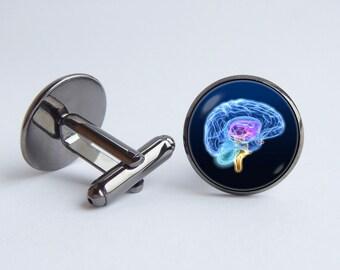 Brain model cufflinks Medical jewelry Human brain cuff links Gift for neurologist Men jewelry Anatomical cufflinks Science Biology cufflinks