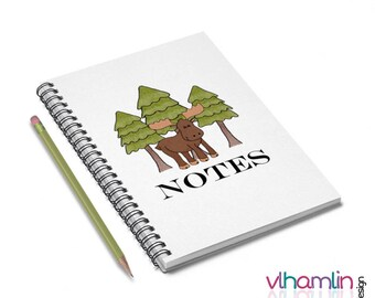Moose Notebook - Moose Gifts | rustic journal lined