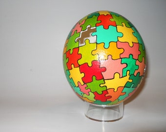Puzzled Ostrich Egg