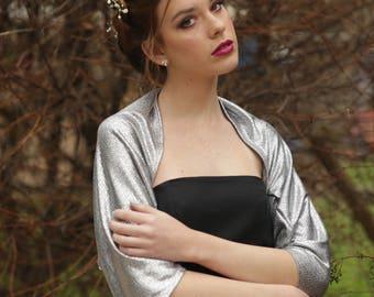 Silver shawls and wraps, silver cover up, evening shawls and wraps, silver bolero jacket, mother of the bride shawl, silver bolero