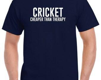 Cricket Shirt-Cricket Cheaper Than Therapy Cricket Gift Men Women