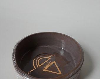 small slab built bowl