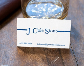 Letterpress Business Cards | Letterpress Calling Cards | Business Logo Business Card
