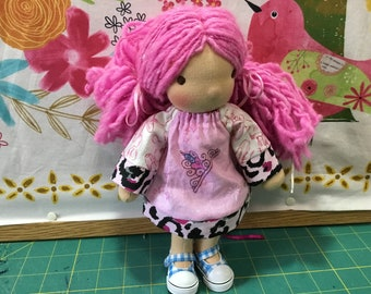 "Princess, 9-10"" Waldorf doll clothes, ooak"