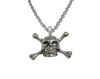 Skull Cross Bones Pendant Necklace