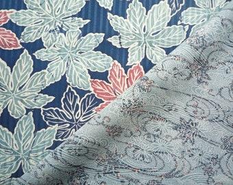 Set of 2 Silk Kimono Fabric, Blue Asian Textile Set, Craft Supply, Japanese fabric, Blue mix