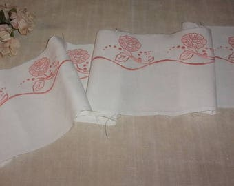 large old embroidery, handmade, pretty flowers