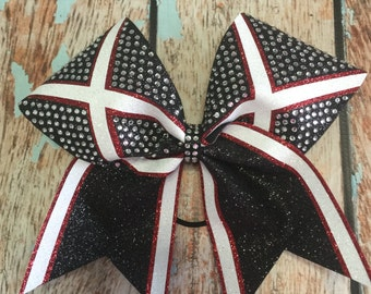 """3"""" Rhinestone Glitter Cheer Bow You Pick Your Color"""