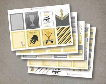 Harry Potter Hufflepuff Planner Stickers, matte or glossy planner stickers, life planner stickers, erin condren filofax, mambi happy planner