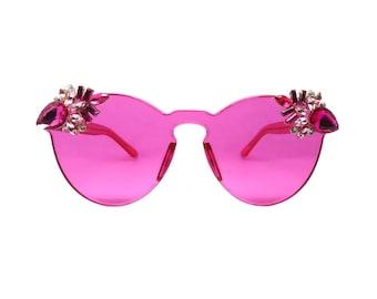 Women's Pink Cateye Style Sunglasses - PUNCH