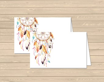 Dreamcatcher Printable Food Tent Cards Place Cards, Hippie DIY Buffet Place Cards, Boho Tribal Food Table Signs Decor Instant Download 022-N