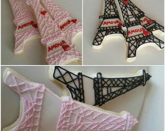 1 Dozen Eiffel Tower Cookies